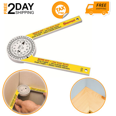 Miter Saw Protractor For Carpenters Plumbers Home Use Crown Molding Measurement