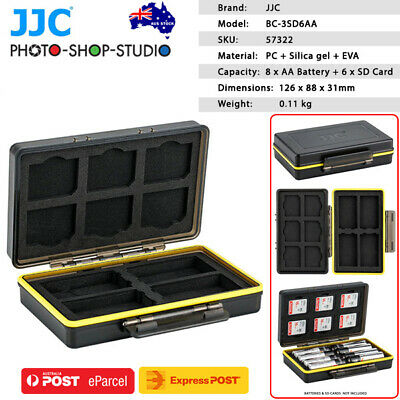 AU STOCK*JJC Multi-Function Battery Case for 8xAA Battery + 6xSD Card