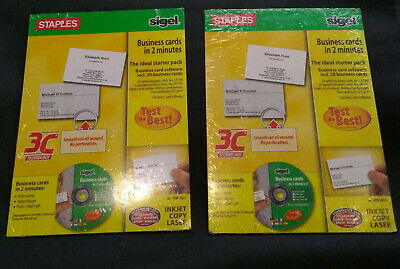 2x Sigel/Staples Business Card Maker Kit Incs 30 Cards each(60 in total)