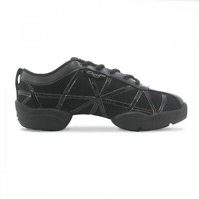 Capezio DS19 Black Web Dance Sneakers - Jazz Trainers