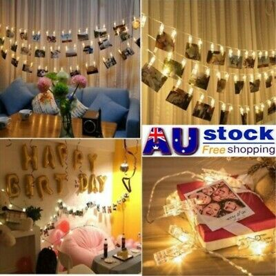 HANGING PICTURE LIGHT Photo Peg Clip Fairy String Lights