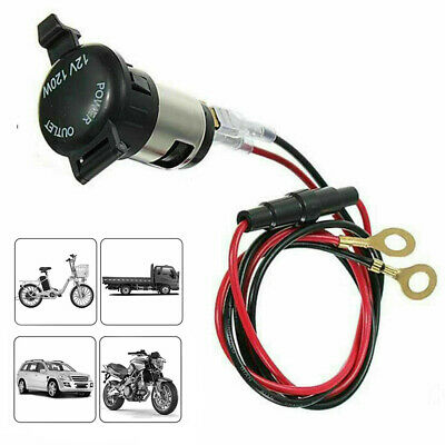 Waterproof 12V USB Car Cigarette Lighter Socket Charger Power Adapter Cable Fuse