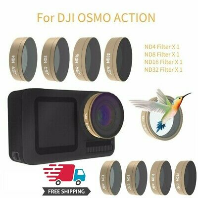 2019 New 4PC ND4+ND8+ND16+ND32 Camera Lens Filters For DJI OSMO ACTION US