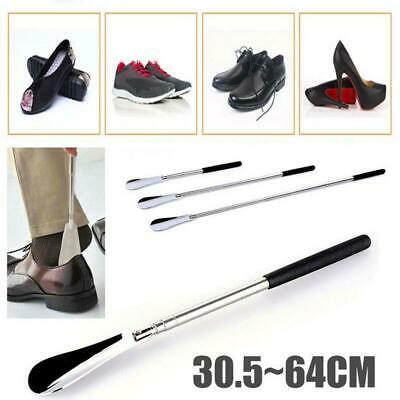 "Extra Long Handle Shoe Horn Stainless Steel 25"" Handled Metal Shoehorn Horns New"
