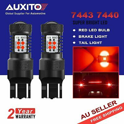 AUXITO 7443 7440 T20 6000K RED CREE LED Tail Brake Stop Turn Signal Light Globes