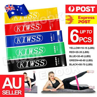 Resistance Bands Set of 5 for Exercise Men and Women Legs Arms Booty Yoga Physio
