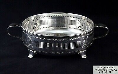 Round William Suckling & Sons Casserole Serving Dish Holder Stand Silver Plated