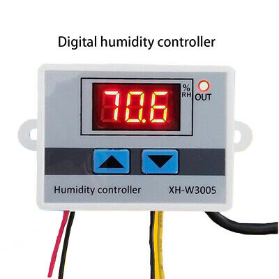 Digital Humidity Controller 220V 12V 24V Hygrometer Control Switch 0-99%RH
