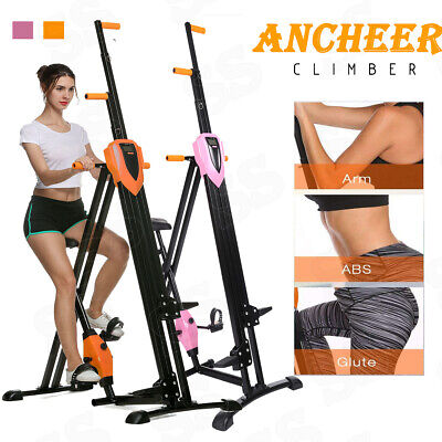 ANCHEER Vertical Climber Exercise Climbing Machine Workout Cardio Workout Train