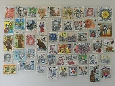 200 Different Slovakia Stamp Collection - Post 1990