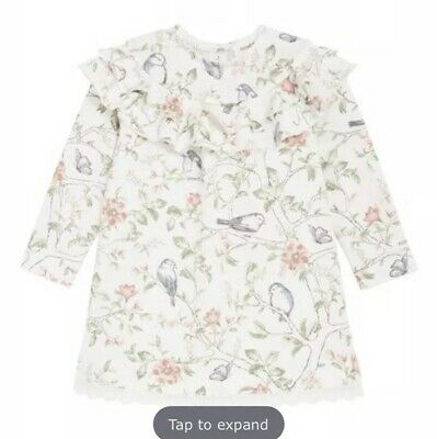 Newbie Baby Floral Dress With Ruffles Organic Cotton Bnwt 4-6 Months