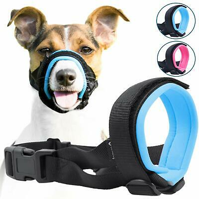 BLUE Gentle Muzzle Guard for Dogs Prevents Biting Unwanted Chewing Safely Secure