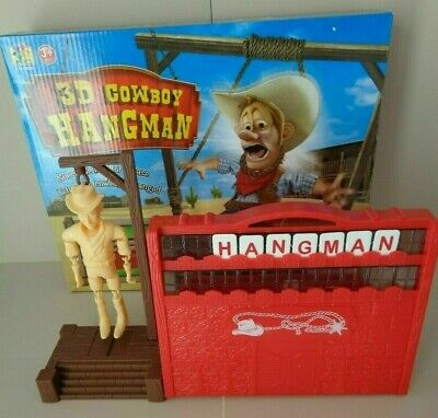 3d Cowboy Hangman Game Other Alphabet & Language Toys Guess The Word Or Phrase Before The Cowboy Is Hanged! Alphabet & Language