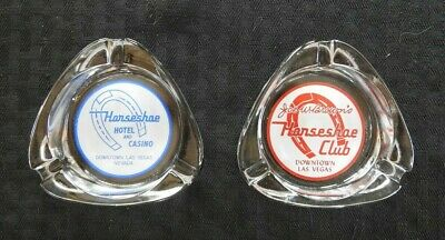 (2) 1951-57 Early Binion's & Joe Brown's Horseshoe Club Hotel & Casino Ashtrays