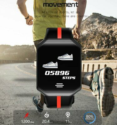 SMART BRACELET – Fitness Tracker Watch B07 (Black)- Waterproof