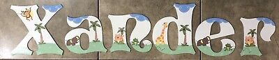 "Baby Room Decorative Wooden Letters ""Xander"""
