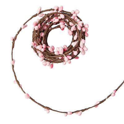 Thin Artificial Twig and Variegated Pink Pip Berry garlands