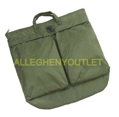 """US Military USAF Unicor Padded Flyer's Helmet Carry Bag 19""""x19"""" OD Green EXC"""