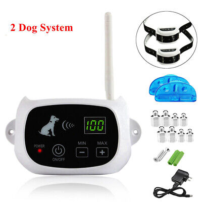 Wireless Electric Dog Pet Fence Containment System Transmitter Collar N8V7
