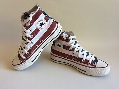 Rare CONVERSE Chuck Taylor All Star American Flag Stars And Stripes Uk Size 3