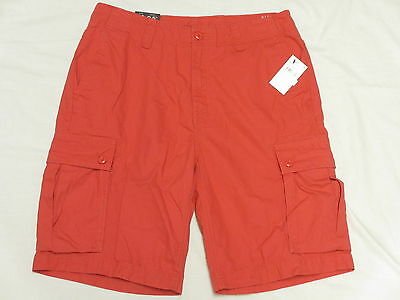 "$69 NWT Mens Nautica Modern Fit Mini Ripstop Anchor 9.5"" Cargo Shorts Sz 30 N241"