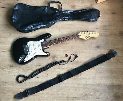Encore Half Size Stratocaster Type Mini Electric Guitar Travel Guitar & Case etc