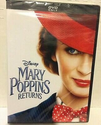 New Mary Poppins Returns  (DVD, 2019, 1-Disc Set). Free Shipping!!!
