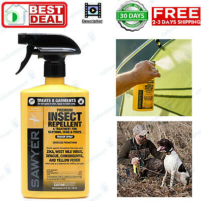 Sawyer  Premium Insect Repellent for Clothing  Gear Permethrin spray 24 oz