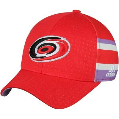 save off e16cb 67faa Carolina Hurricanes adidas Hockey Fights Cancer Flex Hat - Red