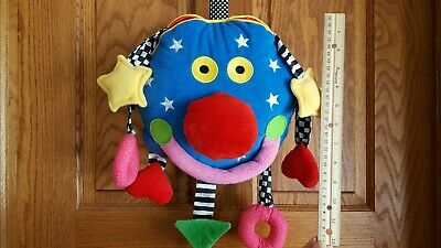 Large WHOOZIT Baby Activity Toy Developmental Learning Rattle Crinkle Textures