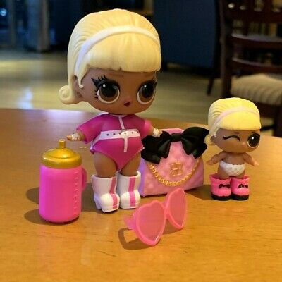 Big & lil sister  LOL Surprise Lil Sisters dolls eye spy Drag Racer lot 2 SDUS1