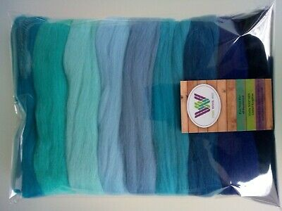Blue sets* Pure Merino Wool for Needle and Wet Felting packs of 30, 60 or 90 g
