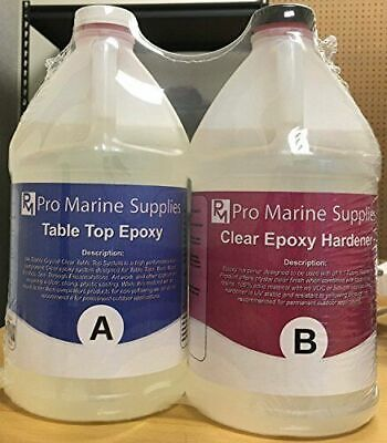 EPOXY RESIN CRYSTAL CLEAR 2 Gallon Kit. FOR SUPER GLOSS COATING AND TABLETOPS
