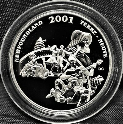 2001 Canada 50 cents Proof Silver Coin - Newfoundland -Festival Series - NO CASE