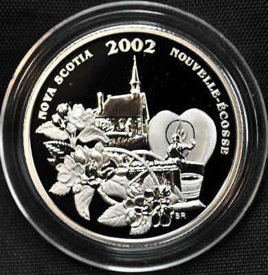 2002 Canada 50 cents Proof Silver Coin - Nova Scotia - Festival Series - NO CASE