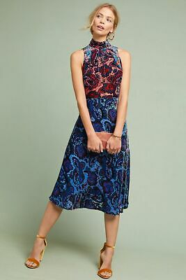 dddb7e2134e16 Anthropologie Rumie Velvet Midi Dress by Moulinette Soeurs Size 0 NWT