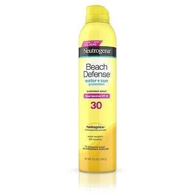 New Neutrogena Beach Defense Spray Body Sunscreen SPF 30 8.5 Oz.