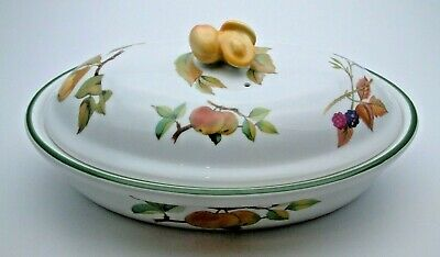 Fine Royal Worcester Evesham Vale Oval Casserole Dish #2 - Perfect