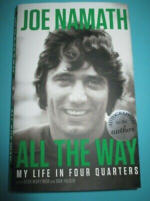 JOE NAMATH SIGNED BOOK ALL THE WAY 1st EDITION AUTOGRAPHED HARD COVER