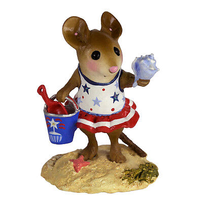 WFF# M-321e LTD Patriotic Mouse 2018 Wee Forest Folk ROCKET POP REVELER