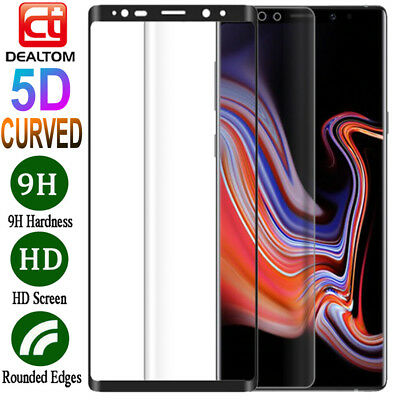 5D Full Cover Tempered Glass Screen Protector For Samsung Galaxy Note 9 Note 8 5