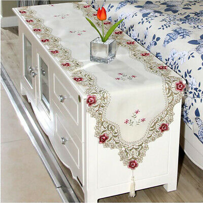 Modern Fashion Polyester Embroidery Fashion Strip Table Flag Home Accessory B