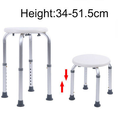 Adjustable Shower Chair Bath Seat Medical Safety Aluminum Bathroom Stool Bench