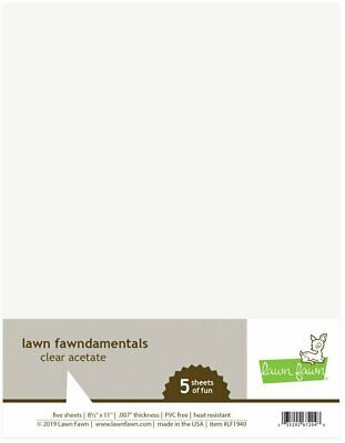 Lawn Fawn Clear Acetate 8.5 x 11 Sheets 5pk