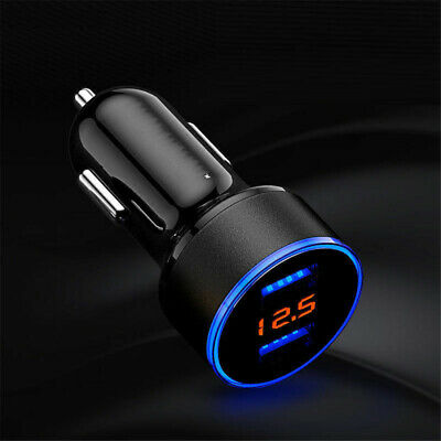 3.1A 12-24V Dual USB Car Phone Charger Adapter 2 Port LCD Display Auto Socket