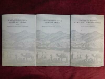 Achaemenid History: 3 Books/Greek Sources/Ancient Persia/Rare 1987 $200+