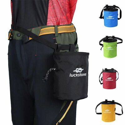 Outdoor Chalk Bag Climbers Magnesium Powder Drawstring Closure Adjustable Belt