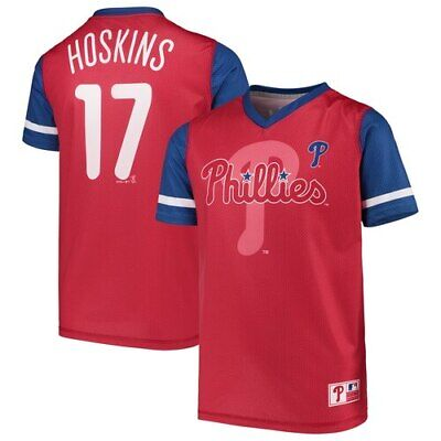 e5f23b27 Rhys Hoskins Philadelphia Phillies Majestic Youth Play Hard Player V-Neck  Jersey