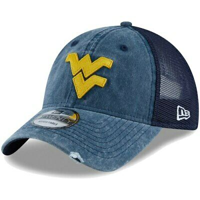 newest b1e31 ba36b West Virginia Mountaineers New Era Tonal Washed Trucker 2 9TWENTY Snapback  Hat -