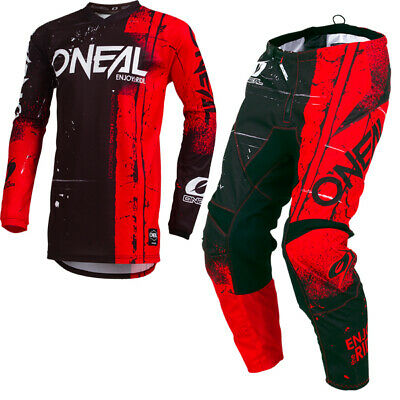 Oneal Element Shred Red Kit Combo